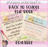 Back to School Flip Book - Preppy Pineapple Theme