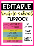 Back to School Flip Book for Parents EDITABLE
