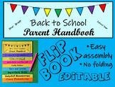 Back to School Flip Book for Parents--Editable Flipbook