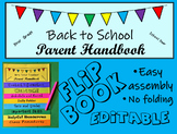Back to School Flip Book for Parents--Editable Flipbook