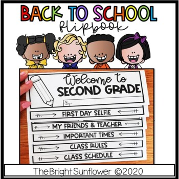 Back to School Flip Book in English & Spanish