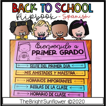 Back to School Flip Book in Spanish