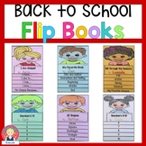 Back to School Flip Books for Kindergarten and First Grade