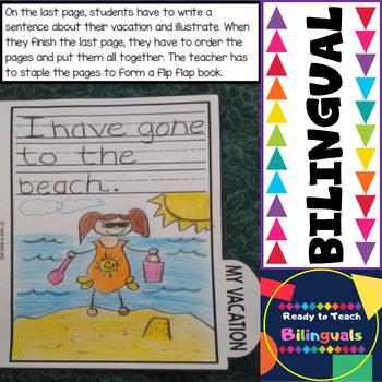 Back to School - Flip Flap Book - Bilingual Set