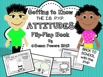 Back to School Flip Flap Book for IB PYP Attitudes