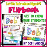 Back to School Flipbook Activity {Editable}: Let Me Introd