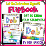 Back to School Flipbook Activity {Editable}: Let Me Introduce Myself!