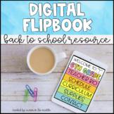 Back to School Flipbook (Distance Learning)