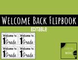Back to School Flipbook (Editable)