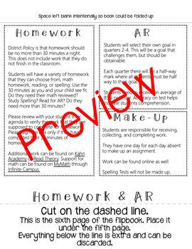 Back to School Flipbook - Editable