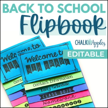 2nd grade teaching resources lesson plans teachers pay teachers welcome back to school flipbook for meet the teacher night editable flip book fandeluxe Image collections