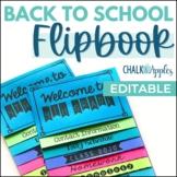 Back to School Flipbook for Meet the Teacher Night (Editab