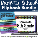 Back to School Flipbooks Print & Digital BUNDLE