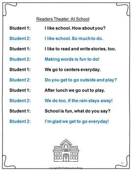 Back to School Fluency Activities