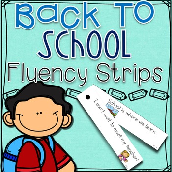 Back to School Fluency Strips