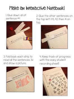 August Back to School Fluency Sentences