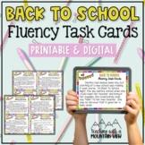 Back to School Reading Fluency