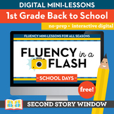 Back to School Fluency in a Flash 1st Grade • Digital Fluency Mini Lessons