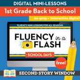 Back to School Fluency in a Flash 1st Grade • Digital Flue