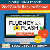 Back to School Fluency in a Flash 2nd Grade • Digital Fluency Mini Lessons