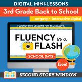 Back to School Fluency in a Flash 3rd Grade • Digital Fluency Mini Lessons