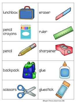 Back to School Flyswatter Vocabulary Game