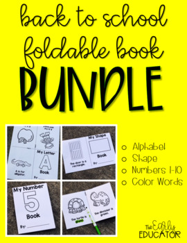 Back to School Foldable Book Bundle