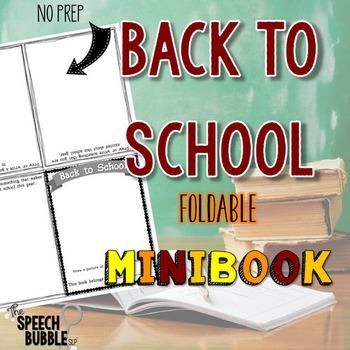 Back to School Foldable Mini Book