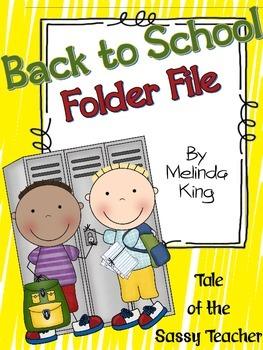 Back to School Folder Files