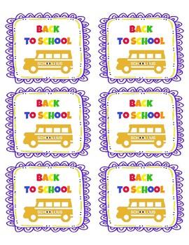 Back to School Folder Labels