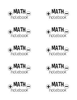 Back to School Folder and Notebook Labels
