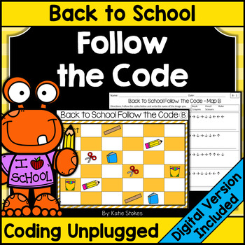Back to School Follow the Code (Coding Unplugged)
