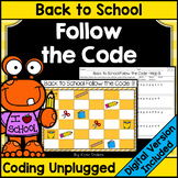 Back to School Coding Unplugged - Follow the Code