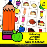 Back to School Following Complex Directions FREEBIE ‪