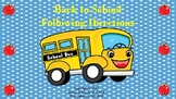 Back to School Following Directions for SLPs
