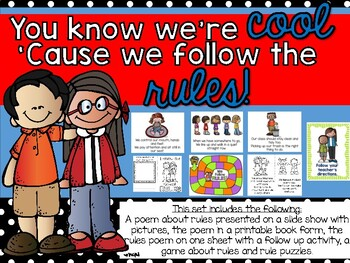 Back to School: Following Rules Poem, Book and Games