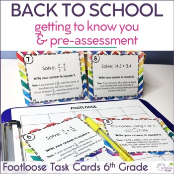 Back to School Footloose Math Pre-assessment & Getting to Know You