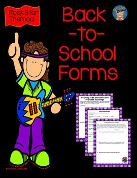 Back-to-School Forms Rock Star Themed