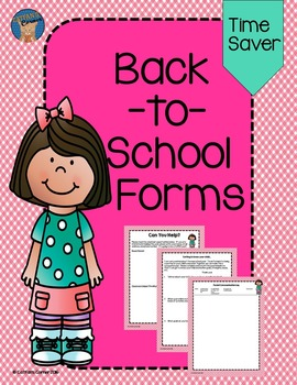 Back-to-School Forms Pink Gingham Themed