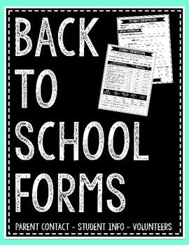 Back-to-School Forms