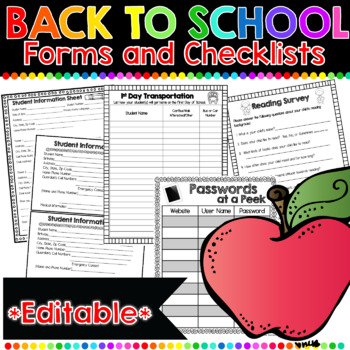Back to School Forms: 47 Print-and-Go Forms to Keep You Organized!