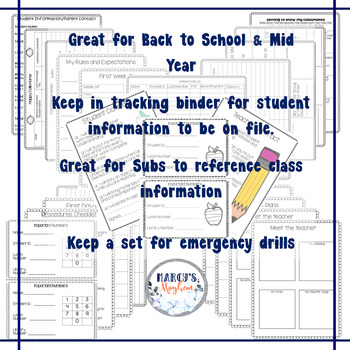 Back to School Activities & EDITABLE Forms