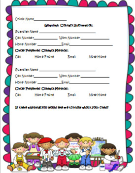 Back to School Forms Bundle: 20+ forms, Digital and Paper Logs