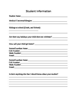 Back to School Forms (Editable!)