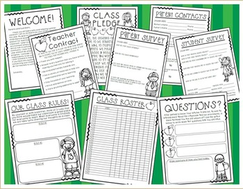 Back to School Forms First Week Activities