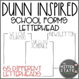Back to School Forms Letterhead: Rae Dunn Inspired