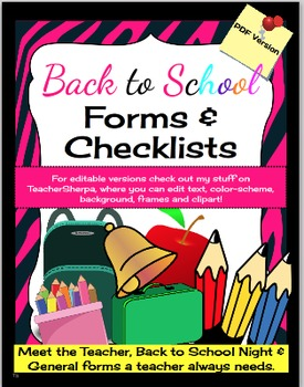 Back to School Forms & More!
