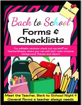 Teacher Forms & More!
