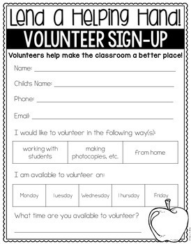 Back to School Forms {Editable Version Included}