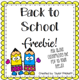 Back to School Forms FREEBIE! (Parent and Student Information)